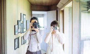 カメラが好きなお二人の ハワイウエディング 。